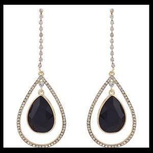 nOir Jewelry Stone Tear Drop Dangle Earrings